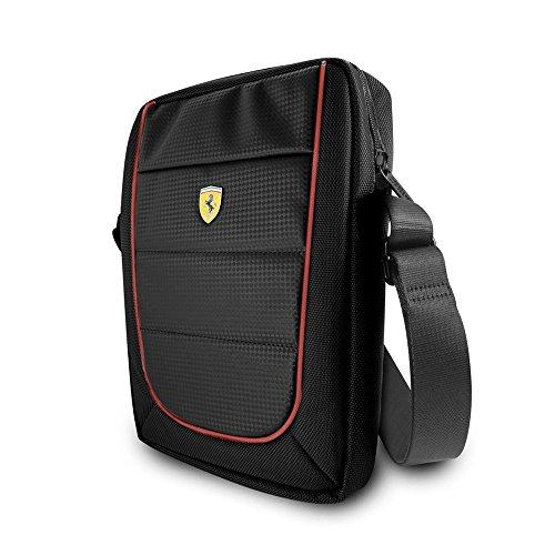 Ferrari Custodia 488 Book Case per Samsung S7, Nero/Rosso