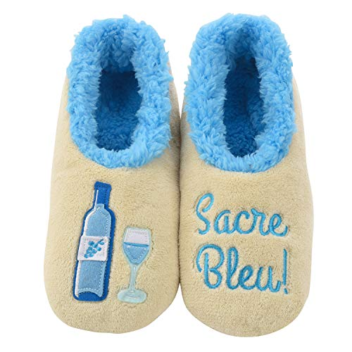 Snoozies Pairables Womens Slippers - House Slippers - Sacre Blue - Small