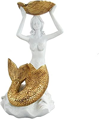 Unison Gifts Upg-434 10 inch Mermaid with Gold Color Tail