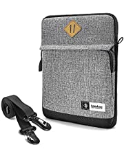 """tomtoc Tablet Shoulder Bag for 12.9"""" New iPad Pro (3s/4th Gen) 2018-2020 with Magic Keyboard and Smart Keyboard and Logitech Slim Folio Pro Case, Tablet Case Finder, Grey"""