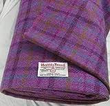 Harris Tweed Stoff, 100 % reine Schurwolle, mit Etiketten,