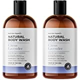 Natural Body Wash Organic Citrus & Lavender, Made in USA, 2X16oz, Plant-Based Shower Gel for Men and Women, Hypoallergenic, Vegan, Sulfates Free, Cruelty Free - Packaging May Vary