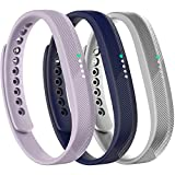 SZBAMI Bands Compatible with Fitbit Flex 2,Replacement Band Accessories Silicon Wristbands Adjustable Sport Fitness Watch Band w/Metal Clasp for Fitbit Flex 2 Women Men