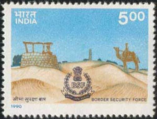 Border Security Force (BSF Border, Security, Police, Paramilitary Force, Camel, Emblem, Desert, Ashoka Capital, Well with Traffice Light)