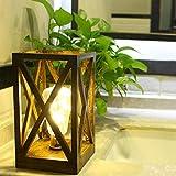 Lámpara de mesita de noche, lámpara de estudio de 1 m, 20 ledes, lámpara de mesa con temporizador, funciona con pilas, decoración del hogar, para dormitorio, sala de estar, oficina