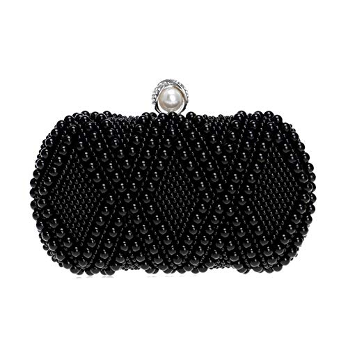 XIANGLIOOD Mujer Perla Con cuentas Diamante de imitación Noche Novia Embrague Bolsos de mano Boda Partido Pantalón Bolso