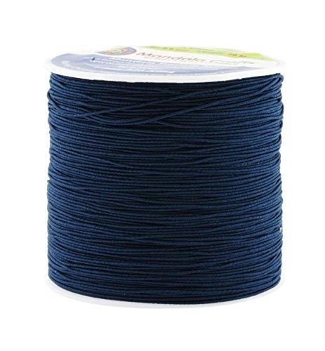 Shirring Elastic Thread for Sewing - Thin Fine Elastic Sewing Thread for Sewing Machine Knitting by Mandala Crafts 0.6mm 87 Yards Navy Blue