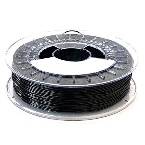 MadridGadgetStore Filamento TPU Flexible 1.75 mm 750gr para Impresora Impresión 3D Leon3D Prusa Anet A8 A6 BQ AnyCubic Rollo Bobina Calidad Profesional Premium MGS3D Printer Boli Color Negro