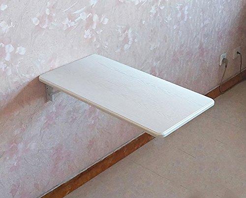 Table pliante Petite taille - blanc - table pliante murale - avec support en aluminium - cuisine - bureau d'ordinateur - table en bois à feuilles caduques (Couleur : B, taille : 60 * 40cm)