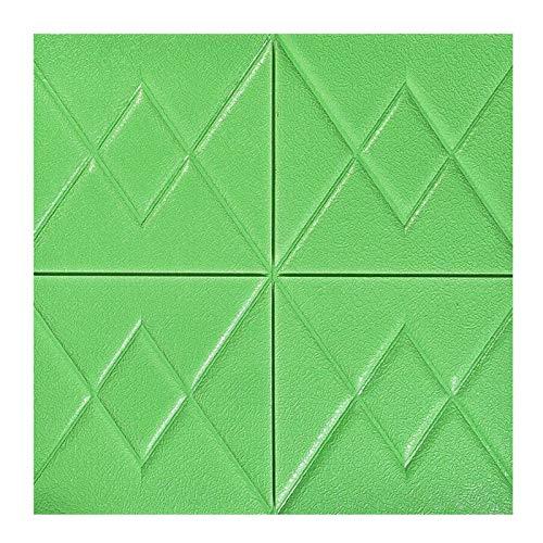 KUNYI Brick 3D Wandpaneele schälen und Stick-Tapete for Wohnzimmer Schlafzimmer Hintergrund Wanddekoration (Color : Green-2#, Size : 10 Pack)