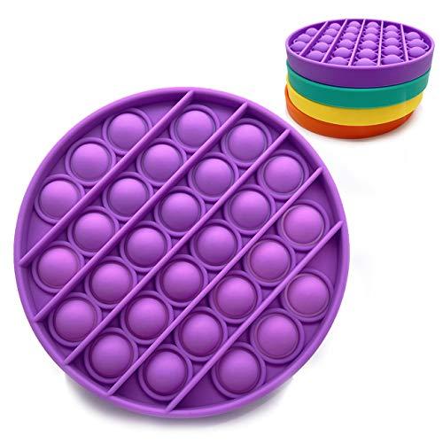 Bdwing Silicona Sensorial Fidget Juguete, Push Pop Bubble Sensory Toy, Autismo Necesidades Especiales Aliviador del Antiestrés del Juguetes para Niños Adultos Relajarse
