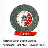 1x Meule pour touret à meuler, 125x16x12.7mm meule Abrasive de Rechange, pour Le meulage de précision et meulage Rapide - 100#, Vert