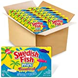 SWEDISH FISH Mini Tropical Soft & Chewy Candy, Easter Candy, 12 - 3.5 oz Boxes