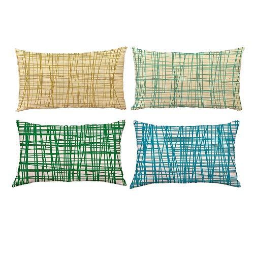 Sencillo Vida Funda Cojin, Cojines Decoraciondel Hogar para Salón, Dormitorio, Oficina, Cama o Coche Pillow Case Sofa Cushion, (30 x 50cm) (I)