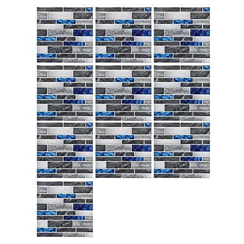 Pegatinas de Azulejos Autoadhesivos,Liwein 10 pcs Decorativos Adhesivos para Azulejos Pegatina de Pared Mosaicos Pegatinas de Baldosas Decorativo para Azulejos de baño y Cocina 10×10cm