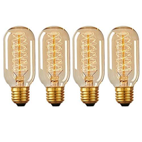 Vintage Edison Glühbirne 40 W E27 Schraube dimmbar Dekorative Eichhörnchen Käfig Filament Glühbirne T45 Röhre Glühlampe 4 Stück