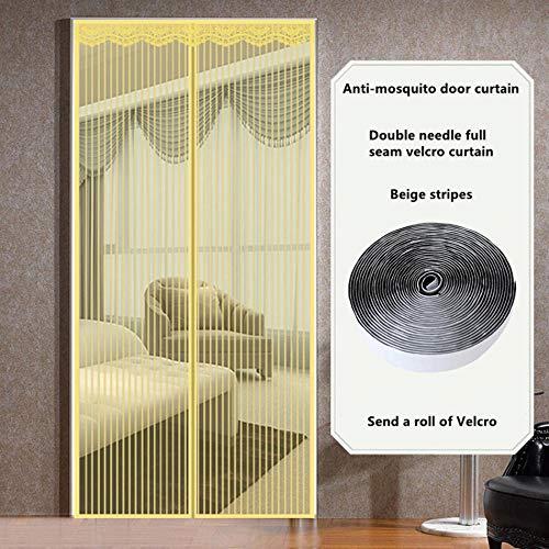 LMWB Magnetische muggennet-deurgordijn anti-vlieg automatische sluiting Ultra fijn gaas installatie zonder eenvoudig gereedschap 140 x 210 cm.