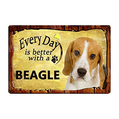GUOYXUAN Warning of excessive pets old-fashioned metal tin sign bar pub home garden decoration board dog poster wall decoration 20 * 30cm
