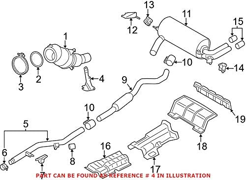 Genuine OEM Max 53% OFF Catalytic Converter Bracket E91 E84 Super beauty product restock quality top Exhaust For BMW