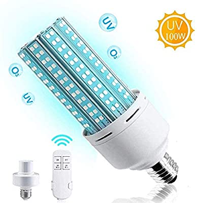 2020 Newest Disinfection Lamp 100W UV Germicidal Lamp? Sterilization UV Led Corn Light Bulb with Remote Control?Great for Home, Warehouse, Supermarket