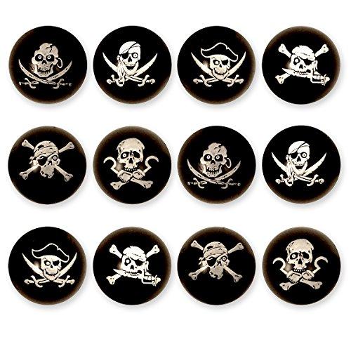 12 x piraci Flummis / na urodziny dziecka dla chłopców i dziewczynek / upominki / urodziny dziecka / prezenty dla gości / piłka gumowa / skakanka / impreza piratów - zestaw