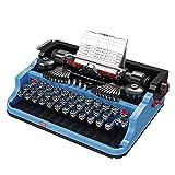 icuanuty Retro Typewritter, Macchina da Scrivere Vintage Modellino, Giocattolo da Costruzione Compatibile con Lego