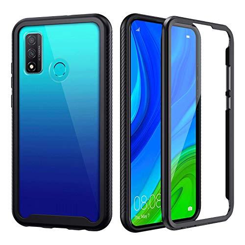 seacosmo Huawei P Smart 2020 Hülle, Stoßfest Cover P Smart 2020 360 Grad vollschutz Handyhülle Rugged Schutzhülle P Smart 2020 mit eingebautem Bildschirmschutz, Schwarz