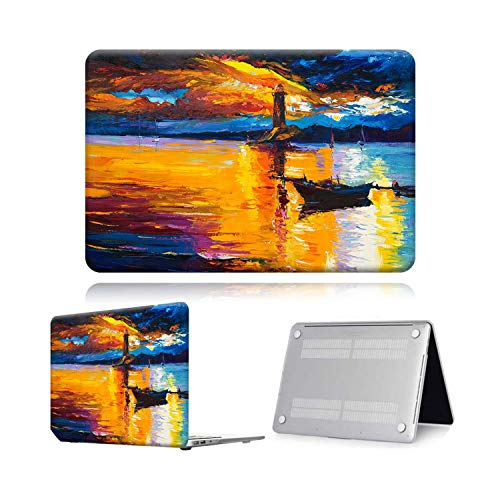 Peach-Girl Case for Macbook Air Pro Retina 11 12 13 15 Touch Bar Painting Laptop Case Cover + Keyboard Protector for Air 13 (A 1932) A2179-Lighthouse-12 Inch (A1534)