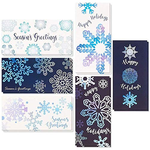 Festive Holiday Money Cards, Giftcard Holders with Envelopes (3.6 x 7.25 In, 36 Pack)