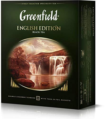 Greenfield Schwarztee English Edition 100 Teebeutel Ceylon Broken Tee black Tea