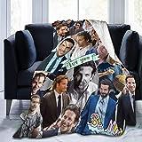 Bradley Cooper Manta súper suave, manta de cama de felpa, adecuada para adultos y niños para usar 60 x 50 pulgadas
