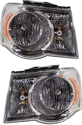 Headlight Compatible with 2007-2009 Chrysler Aspen Pair with Bulbs Clear Lens