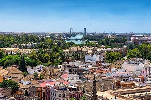 Puzzle de 1000 piezas de rompecabezas de madera Rompecabezas del horizonte de Sevilla desde la cima del monte Giralda