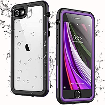 Singdo iPhone SE 2020 Waterproof Case,iPhone 7/8 Waterproof Case, Built-in Screen Protector Full Body Heavy Duty Shockproof IP68 Waterproof Case for iPhone SE 2020/7/8 4.7 inch (Purple)