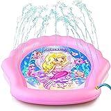 Z@SS Splash Pad für Mädchen, 78' Outdoor Kinderwasser Pad, Waten Pool & Sprinkler für Kinder - Aufblasbare Kiddie Schwimmbecken, Wasserspielzeug für Babys und Kleinkinder 12 Monate & mehr