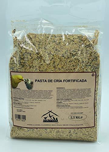 Faunamix Pasta fortificada suplemento Extra de proteínas y energía. Especial eproducción, muda y Crecimiento. (2,5 kg)
