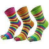 AIEOE 3 Paar Sneaker Socken Zehensocken Damen Sport Socken Baumwolle Fünf Finger Laufen Socken