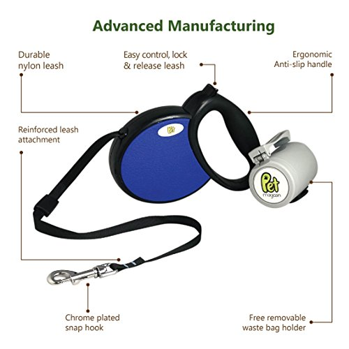 Pet Magasin 13 feet Smooth Retractable Dog Leash