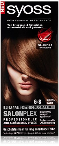 Syoss Haarfarbe, 6-8 Dunkelblond, 3er Pack (3 x 115 ml)
