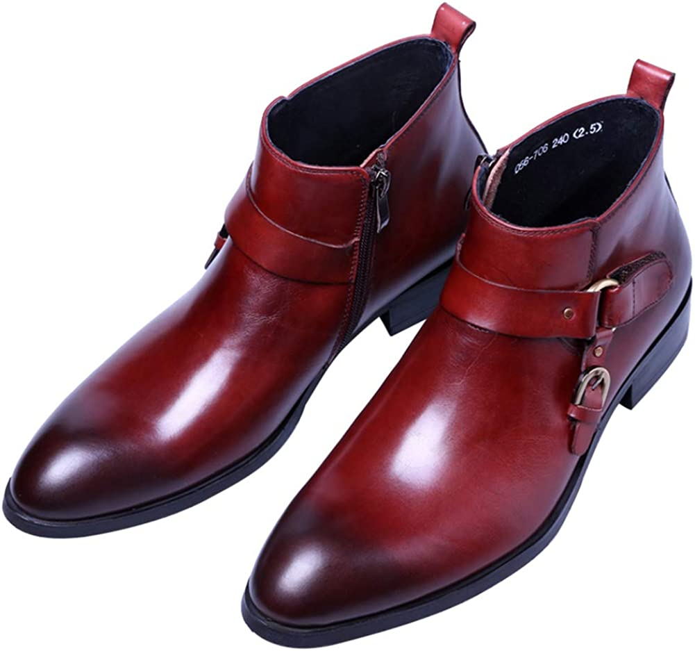 Santimon Boots for Mens Dress Shoes Cheap super special price Leather Large discharge sale Double Strap Monk