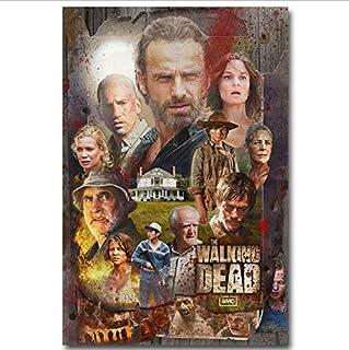 yhnjikl Posters and Prints The Walking Dead Temporada 7 USA TV Series Show Art Poster Lienzo Pintura Decoración para el hogar 40X60Cm Sin Marco
