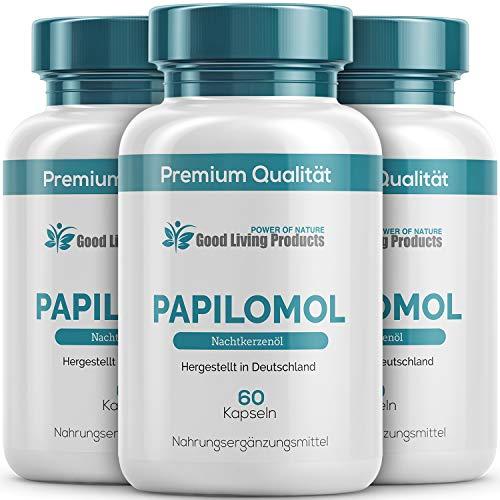 Papilomol Kapseln | (Hochdosiertes Nachtkerzenöl) Gegen Warzen & Papillome, 60 Kapseln | 3 Dosen