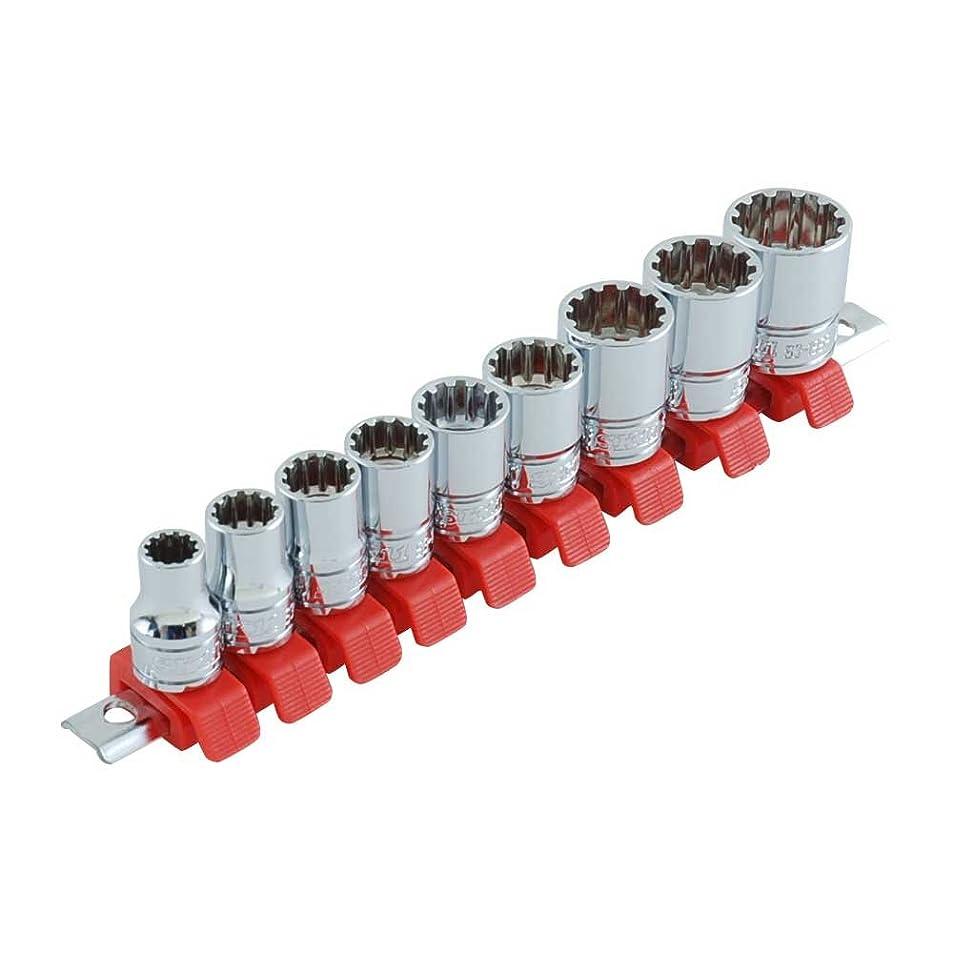 スリンク前部ブランデーSK11 スプラインソケットセット SHS309SP 差込角:9.5×8-19mm 9点 1セット
