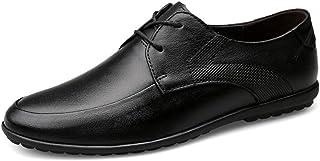 Dingziyue il primo strato pelle bovina scarpe uomo moda casual un pedale pigro scarpe giovani guida scarpe uomo (colore: n...