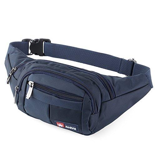 AirZyx wasserdichte Bauchtasche Geeignet für Reise, Sport & alle Outdoor Aktivitäten, Hüfttasche für Damen und Herren, Bauchtasche Wasserdicht Hüfttaschen für Running (Dunkelblau)