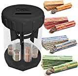 6. Teacher's Choice Digital Coin Counter Automatic Coin Sorter - 2020 Version - Digitally Keeps Count of and Automatically Sorts U.S. Coins into Individual Tubes, with 20 Coin Wrappers Included (Black)