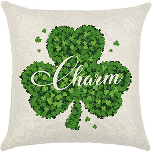 Moent Funda de almohada para el día de San Patricio, cuadrada, temática irlandesa, decoración del hogar, sofá, sofá, sofá, fiesta, suave sofá, dormitorio, coche, decoración para el hogar (multicolor)