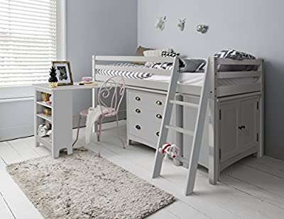 Noa and Nani - Sleep Station Midsleeper Cabin Bed with Desk, Chest of Drawers & Cabinet
