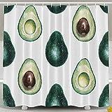 Presock Avocado Pattern Duschvorhang Waterproof Polyester Fabric Bad Dekor Bathroom Sets 60X72inch,Water-Repellent und Eco-Friendly,Includes Free Hooks