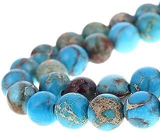 Bingcute 8mm Genuine Sea Sediment Jasper Round Gemstone Imperial Jasper Beads Jewelry Making Loose Beads